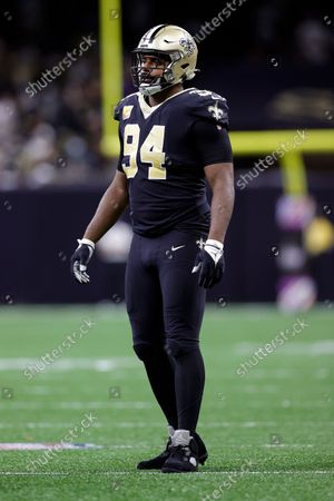 New Orleans Saints defensive end Cameron Jordan (94) in action during an NFL football game against the New York Giants, in New Orleans