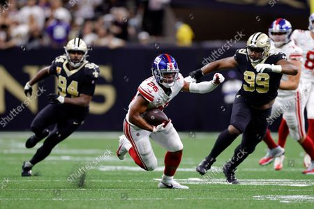 Editorial picture of Giants Saints Football, New Orleans, United States - 03 Oct 2021