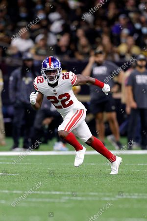 New York Giants cornerback Adoree' Jackson (22) in action during an NFL football game against the New Orleans Saints, in New Orleans