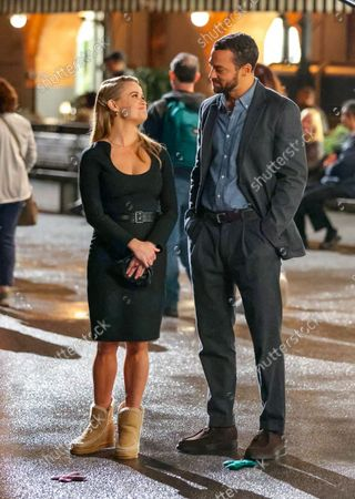 Reese Witherspoon and Jesse Williams at the movie set of the 'Your Place or Mine' in New York City.