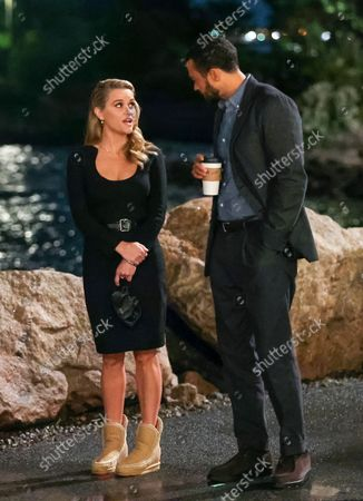 Stock Image of Reese Witherspoon and Jesse Williams at the movie set of the 'Your Place or Mine' in New York City.