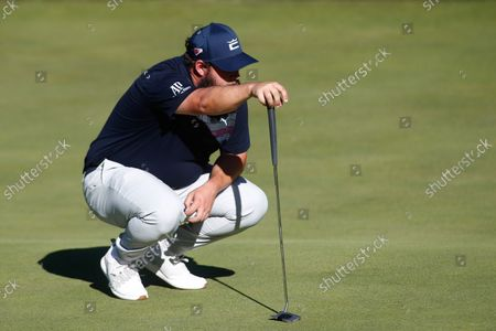 Andrew Johnston of England looks on during the Acciona Open Espana of Golf, Spain Open, at Casa de Campo on October 07, 2021, in Madrid, Spain.