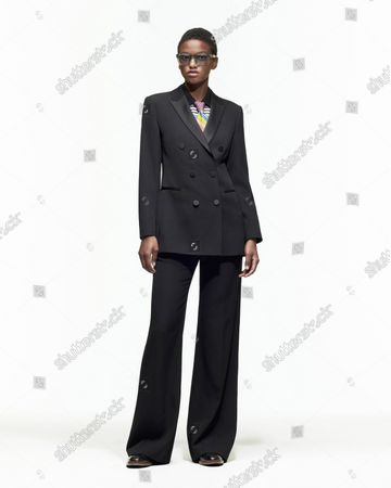 Model Wears an Outfit as Part of the Ready to Ready to Wear Summer 2022, Paris, France, from the House of Paul Smith