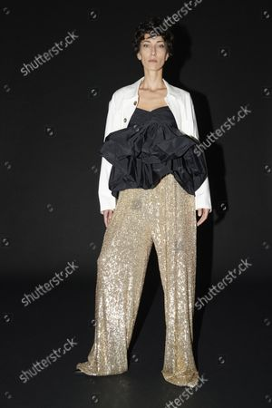 Stock Image of Model Wears an Outfit as Part of the Ready to Ready to Wear Summer 2022, Paris, France, from the House of Lutz Huelle