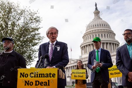 Senator Ed Markey (D-MA) speaks during a press conference with Sunrise Movement, Evergreen Action, and the Hip Hop Caucus reiterating their commitment to inclusion of climate solutions in the $3.5 trillion Build Back Better Act (a.k.a. reconciliation budget).