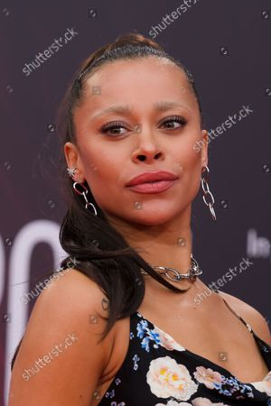 English singer Blithe Saxon attends the headline gala of 'Spencer' during the BFI London Film Festival at the Royal Festival Hall in London, Britain, 07 October 2021. The British Film Institute festival runs from 06 to 17 October.