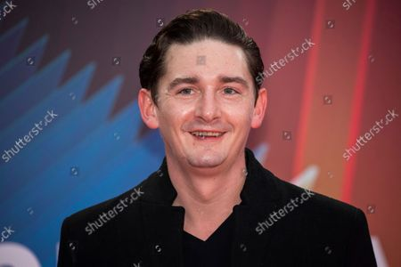 James Harkness poses for photographers upon arrival at the premiere of the film 'Spencer' during the 2021 BFI London Film Festival in London