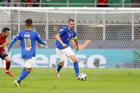 Leonardo Bonucci (ITA) - Football / Soccer : UEFA Nations League Semi-finals match between Italy 1-2 Spain at theStadio San Siro in Milan, Italy.