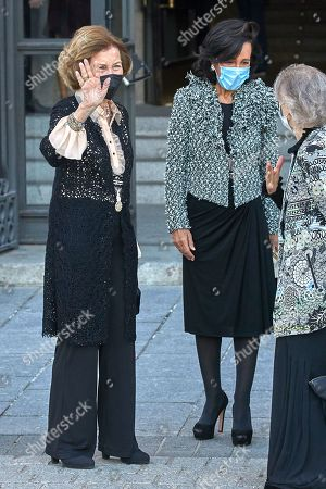 Stock Photo of Former Queen Sofia of Spain, Ana Patricia Bot'n, Princess Irene of Greece