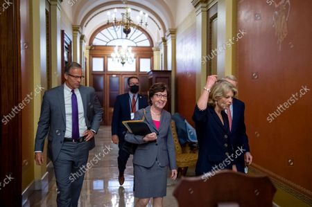 Editorial photo of Senate Republicans meet behind closed doors to discuss the debt ceiling vote at the U.S. Capitol, Washington, District of Columbia, USA - 07 Oct 2021
