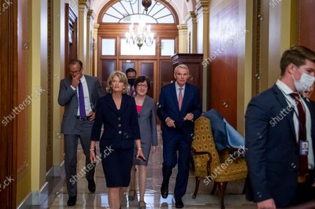 Editorial image of Senate Republicans meet behind closed doors to discuss the debt ceiling vote at the U.S. Capitol, Washington, District of Columbia, USA - 07 Oct 2021