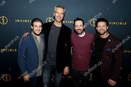 Stock Image of Justin Leonard (Co Exec Producer), Chayne Gregg (Producer), Joshua Lingenfelter (Robert Irvine Foundation), David Reid (Robert Irvine Foundation)