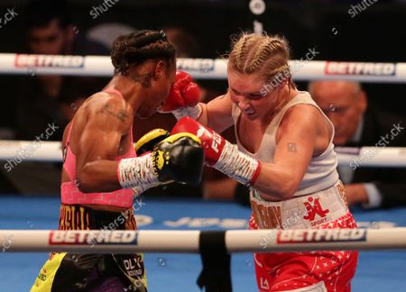 Stock Picture of SHANNON COURTENAY (Watford, England) v JAMIE MITCHELL (USA) during their WBA Bantamweight World Championship contest; M&S Bank Arena, Liverpool, England; Matchroom Boxing, Liam Smith versus Anthony Fowler.