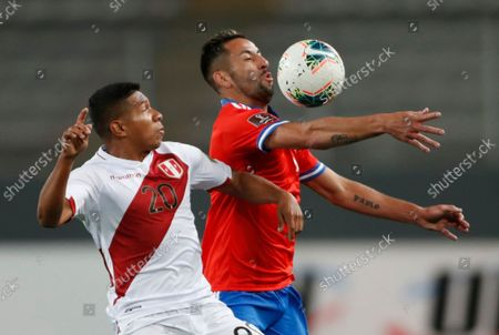 Editorial photo of Chile Wcup Soccer, Lima, Peru - 07 Oct 2021