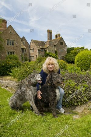 Carla Lane with her dogs 'Shy' and 'Igor'