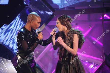 Stock Image of Skunk Anansie - Skin with X Factor winner Nathalie Giannitrapani