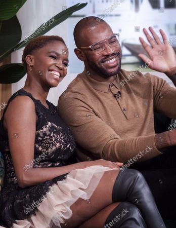 Stock Photo of Otlile Mabuse and Ugo Monye