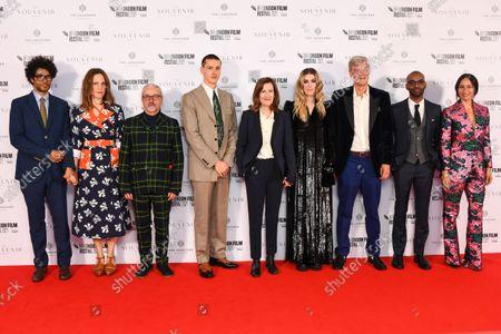 Stock Picture of Richard Ayoade, Lydia Fox, Harris Dickinson, Joanna Hogg, Honor Swinton Byrne, Jaygann Ayeh, Gala Botero and Tricia Tuttle