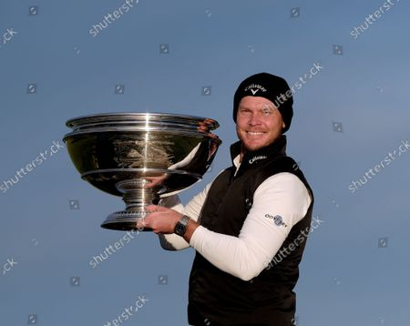 Danny Willet (England), winner of the Alfred Dunhill Links Championship 2021 at The Old Course, St Andrews, Fife, Scotland.
