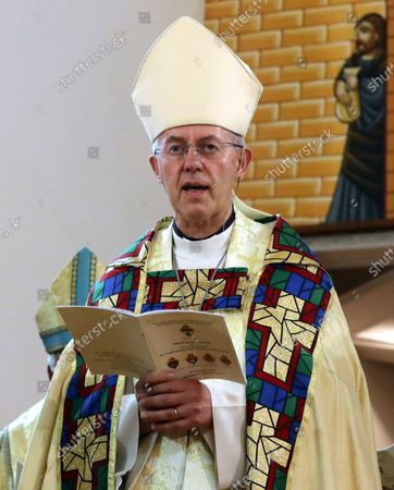 Justin Welby, Archbishop of Canterbury, the spiritual leader of Anglican Communion, attends a mass at All Saints' Cathedral in Zamalek, Cairo, Egypt, 08 October 2021. The spiritual head of the worldwide Anglican Communion, Justin Welby is visiting Egypt to launch a new province for Anglican Church in Alexandria. The 41st province of the Anglican Communion of Churches will serve ten countries; Egypt, Libya, Tunisia, Algeria, Mauritania, Chad, Ethiopia, Eretria, Djibouti, Somalia.
