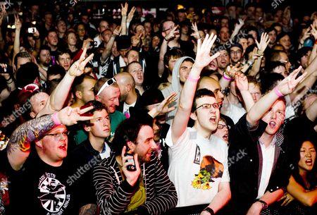 Audience. KRS-1 in concert at the liquidrooms, Edinburgh, Scotland, Britain.