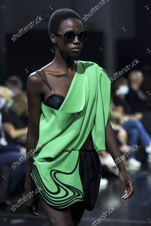 Editorial picture of Luis Buchinho - Runway - 57th Lisbon Fashion Week, Portugal - 08 Oct 2021