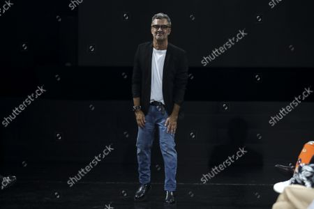 Portuguese fashion designer Luis Buchinho at the end of his fashion show on the second day of the Lisbon Fashion Week 2021, at Capitolio in Lisbon, Portugal, 08 October 2021. The 57th ModaLisboa runs from 07 to 10 October 2021.