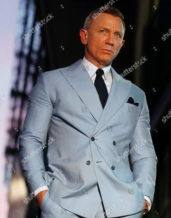 British actor Daniel Craig attends a ceremony in his honor as he receives a new star on the Hollywood Walk of Fame