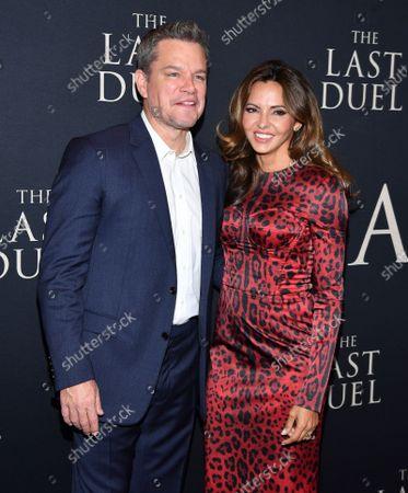 Matt Damon and Luciana Damon