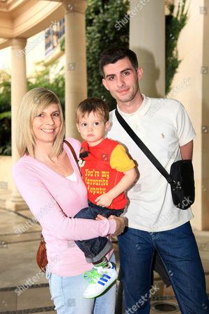 Stacey Solomon's mum Fiona Solomon, Stacey Solomon's son Zachary Cox and Stacey's boyfriend Aaron Barham