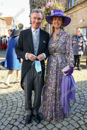 Stock Picture of Hereditary Grand Duke Guillaume of Luxembourg of Luxembourg, Princess Sibylla of Luxembourg