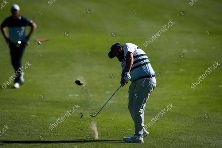 Stock Picture of Andrew Johnston of England in action during the Acciona Open Espana of Golf, Spain Open, at Casa de Campo on October 09, 2021, in Madrid, Spain.