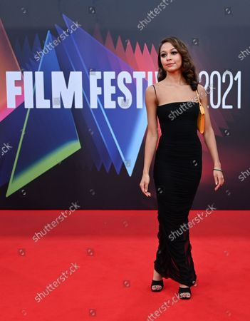 Kassius Nelson attends the 'Last Night in Soho' film premier during the London Film Festival in London, Britain, 09 October 2021.  The British Film Institute festival runs from 06 to 17 October 2021.