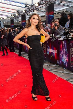 Kassius Nelson poses for photographers upon arrival at the premiere of the film 'Last Night in Soho' during the 2021 BFI London Film Festival in London