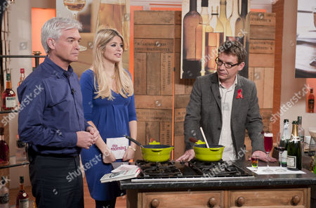 Phillip Schofield and Holly Willoughby with Joseph Piercy