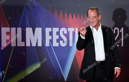 Vincent Lindon attends the 'Titane' film premiere during the BFI London Film Festival at the Royal Festival Hall in London, Britain, 09 October 2021. The British Film Institute festival runs from 06 to 17 October.