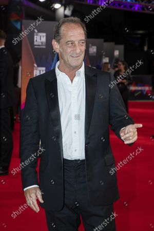 Stock Picture of Vincent Lindon poses for photographers upon arrival at the premiere of the film 'Titane' during the 2021 BFI London Film Festival in London