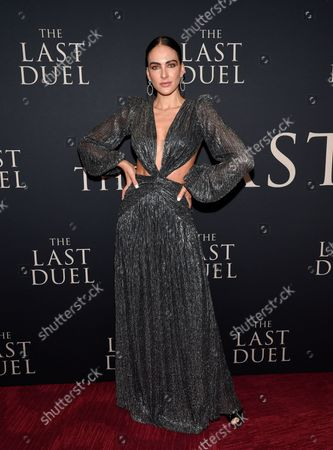 """Stock Picture of Daniela Botero attends the premiere of """"The Last Duel"""" at Rose Theater at Jazz at Lincoln Center, in New York"""
