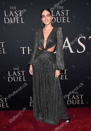 """Daniela Botero attends the premiere of """"The Last Duel"""" at Rose Theater at Jazz at Lincoln Center, in New York"""