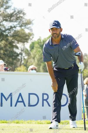 Pablo Larrazabal  of Spain plays during the Acciona Open Espana of Golf, Spain Open, at Casa de Campo on October 09, 2021, in Madrid, Spain.
