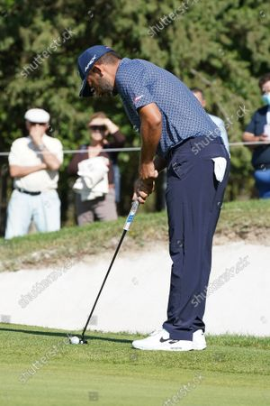Stock Image of Pablo Larrazabal  of Spain plays during the Acciona Open Espana of Golf, Spain Open, at Casa de Campo on October 09, 2021, in Madrid, Spain.