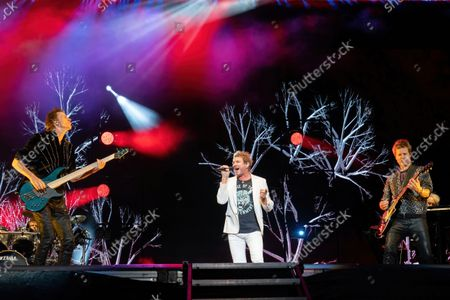 (L-R) John Taylor, Simon Le Bon, and Dominic Brown of Duran Duran