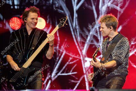 John Taylor (L) and Dominic Brown of Duran Duran