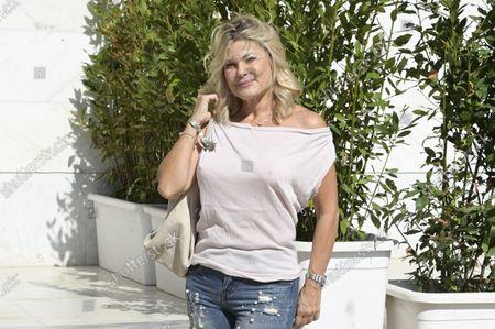 Patrizia Pellegrino attends the Tennis & Friends event organized by the Agostino Gemelli University Polyclinic Foundation and CONI, in favor of Health and Sport for the development of psychophysical well-being which was held at the Foro Italico.