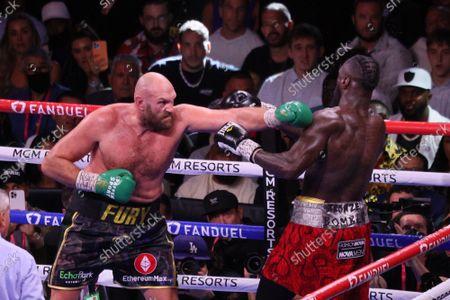 Editorial photo of Fury vs Wilder Iii Fight, Las Vegas, Nevada, United States - 10 Oct 2021