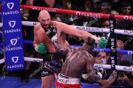 Editorial image of Fury vs Wilder Iii Fight, Las Vegas, Nevada, United States - 10 Oct 2021