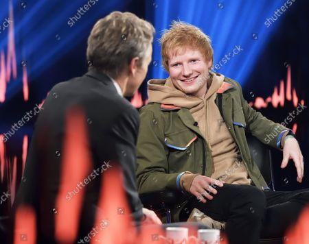 Editorial image of Ed Sheeran during the recording of Skavlan, Stockholm, Sweden - 06 Oct 2021