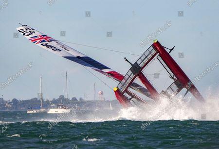 Editorial photo of Spain SailGP, Race Day 2,  Event 6, Season 2 in Cadiz, Spain - 10 Oct 2021