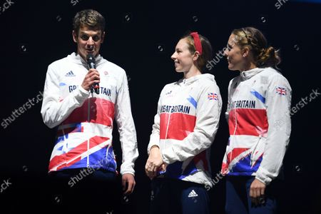 Jonny Brownlee, Georgia Taylor-Brown and Jessica Learmonth
