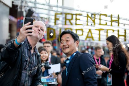 """Stephen Park attends the UK Premiere and Headline Gala of Searchlight Picture's """"The French Dispatch"""" at The Royal Festival Hall on October 10, 2021 in London, England"""